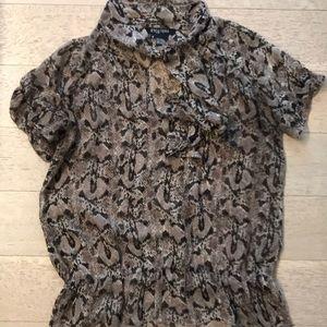 Etcetera python silk blouse